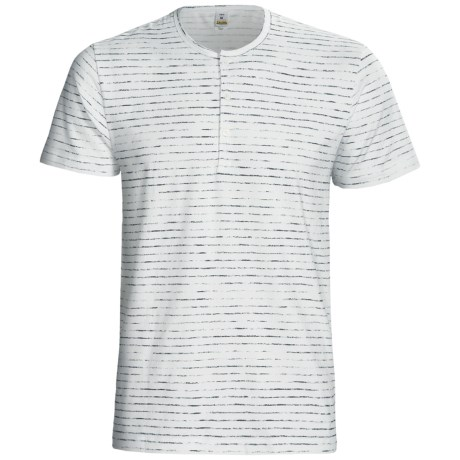 Calida Liberty Henley T-Shirt - Stretch Cotton, Short Sleeve (For Men) in Grafit