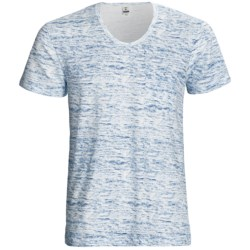 Calida Liberty T-Shirt - Stretch Cotton, Short Sleeve (For Men) in Blue Gap