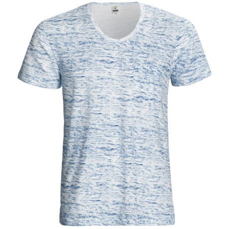 Calida Liberty T-Shirt - Stretch Cotton, Short Sleeve (For Men) in Blaze