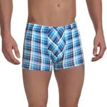 Calida Looming Boxer Briefs - Stretch Cotton (For Men) in Brilliant Blue - Closeouts