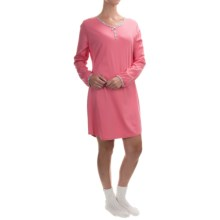Calida Love in the Box Nightgown and Socks Set - Long Sleeve (For Women) in Sugar Melon - Closeouts