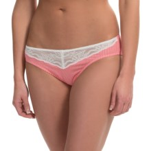 Calida Malva Lace-Trim Panties - Bikini Briefs (For Women) in Strawberry Pink - Closeouts