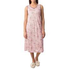 Calida Margarite Nightshirt - Micromodal®, Sleeveless (For Women) in Barely Pink - Closeouts