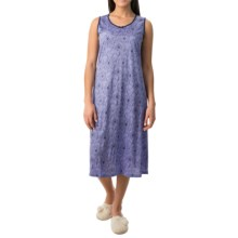Calida Margarite Nightshirt - Micromodal®, Sleeveless (For Women) in Blue Violet - Closeouts