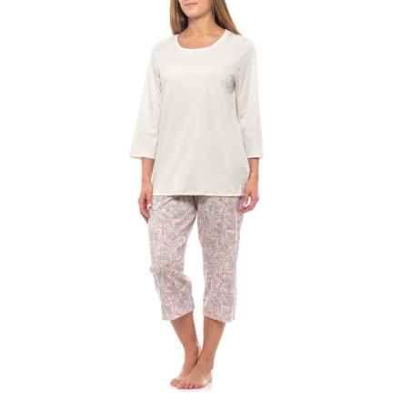 57979ac6a9e3 Clearance. Calida Marseille Capri Pajamas - Swiss Supima® Cotton