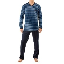 Calida Midnight Spirit Pajamas - Long Sleeve (For Men) in Dark Blue - Closeouts