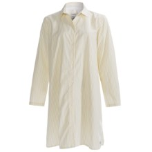 Calida Mix & Match Big Shirt - Button Front, Long Sleeve (For Women) in Popcorn - Closeouts