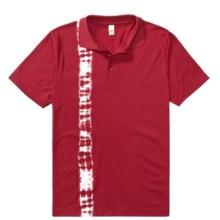 Calida Mix & Match Polo Lounge Shirt - 3-Button (For Men) in Tango - Closeouts