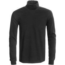 Calida Mix & Match Turtleneck - Cotton, Long Sleeve (For Men) in Black - Closeouts