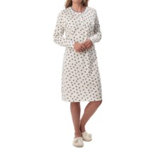 Calida Morning Light Nightshirt - Long Sleeve (For Women) in Hyancith - Closeouts