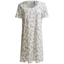 Calida Nora Big Shirt - Short Sleeve (For Women) in Granite Grey - Closeouts