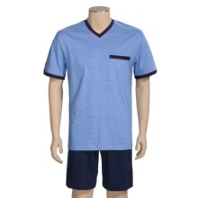 Calida Ocean View Short Pajamas - Short Sleeve (For Men) in Regetta - Closeouts