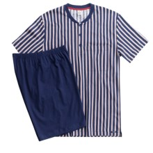 Calida Off Shore Single-Jersey Pajamas - Short Sleeve (For Men) in Navy - Closeouts