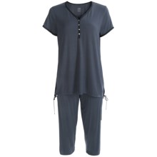 Calida Opium Capri Pajamas - Stretch Micromodal®, Short Sleeve (For Women) in Ombre - Closeouts