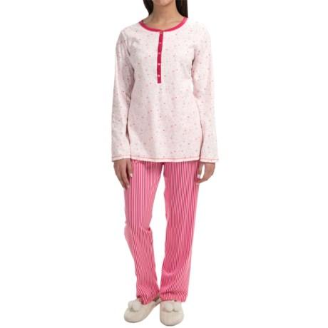 Calida Pink Carnation Pajamas Long Sleeve (For Women)