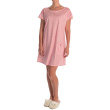 Calida Playground Nightshirt - Cotton Jersey, Short Sleeve (For Women) in Brilliant Pink - Closeouts
