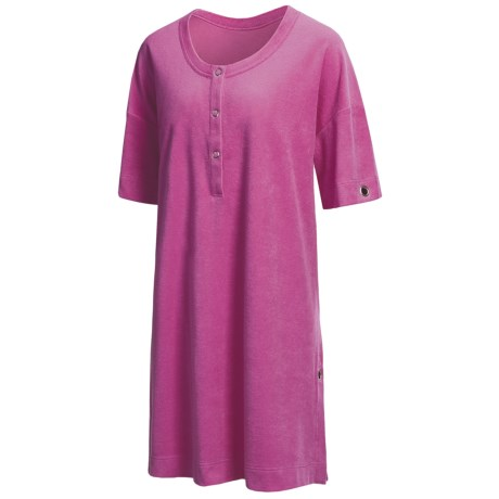 Calida Red Sea Big Shirt - Short Sleeve (For Women) in Pink Sorbet