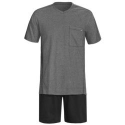 Calida Refresh Shorts Pajamas - Short Sleeve (For Men) in Dark Blue