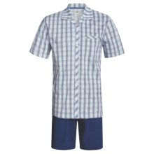 Calida Regatta Pajamas - Button-Up, Short Sleeve (For Men) in Regatta - Closeouts