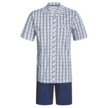 Calida Regatta Pajamas - Button-Up, Short Sleeve (For Men) in Regatta - Closeouts