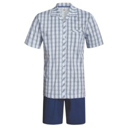 Calida Regatta Pajamas - Button-Up, Short Sleeve (For Men) in Regatta