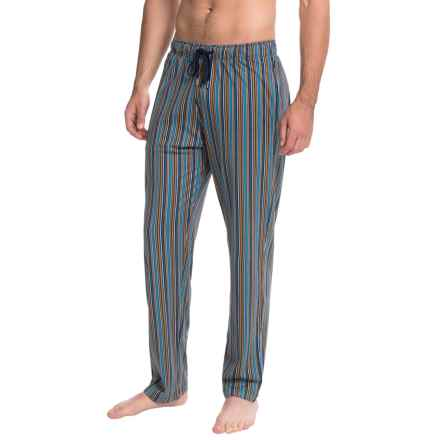 Calida Remix 1 Lounge Pants - Cotton, Open Leg (For Men) in Enamel Blue - Closeouts