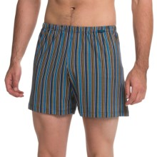 Calida Remix 1 Printed Boxers - Cotton (For Men) in Enamel Blue - Closeouts