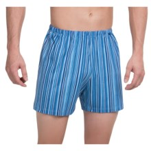 Calida Remix 1 Printed Boxers - Cotton (For Men) in Regatta - Closeouts
