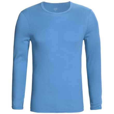 Calida Remix 1 Shirt - Cotton, Crew Neck, Long Sleeve (For Men) in Azurite - Closeouts