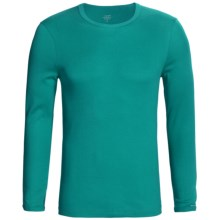 Calida Remix 1 Shirt - Cotton, Crew Neck, Long Sleeve (For Men) in Malachite - Closeouts