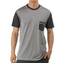 Calida Remix 3 T-Shirt - Single Cotton Jersey, Short Sleeve (For Men) in Anthrazite Mele - Closeouts