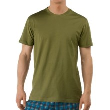 Calida Remix Basic T-Shirt - Single Cotton Jersey, Short Sleeve (For Men) in Willow Green - Closeouts