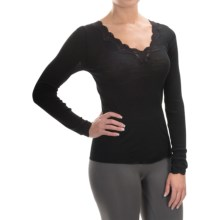 Calida Richesse Top - Wool-Silk, Long Sleeve (For Women) in Black - Closeouts
