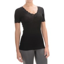 Calida Richesse Top - Wool-Silk, Short Sleeve (For Women) in Black - Closeouts