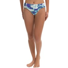 Calida Safi Bikini Bottoms - Ruched Sides (For Women) in Bright White - Closeouts