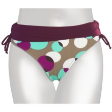 Calida Sands Swimsuit Bottoms - Side Tie (For Women) in Aubergine Dots - Closeouts