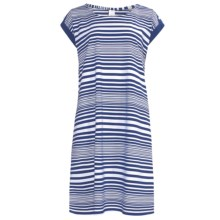 Calida Sea Coast Nightshirt - Cotton Jersey, Short Sleeve (For Women) in Twilight - Closeouts