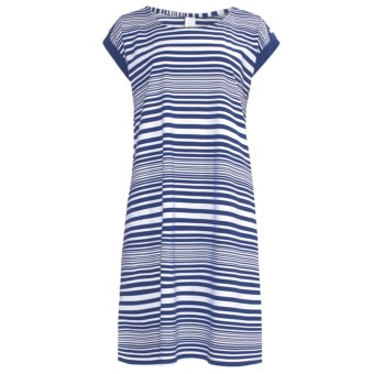 Calida Sea Coast Nightshirt - Cotton Jersey, Short Sleeve (For Women) in Twilight