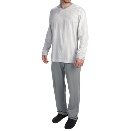 Calida Skyline Cotton Pajamas Long Sleeve (For Men)