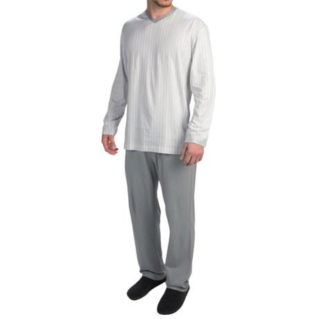 Calida Skyline Cotton Pajamas Long Sleeve (For Men)