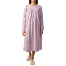 Calida Soft Cotton Interlock Nightgown - Long Sleeve (For Women) in Bloom Rose-Pink - Closeouts