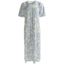 Calida Soft Cotton Nightgown - Short Sleeve (For Women) in Cloud - Closeouts