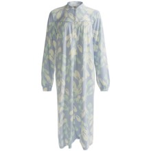 Calida Soft Cotton Nightshirt - Long Sleeve (For Women) in Cloud - Closeouts