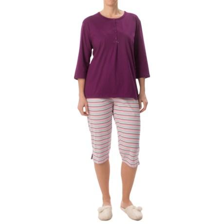 Calida Spring Time Pajamas Elbow Sleeve, Capris (For Women)