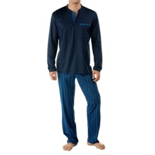 Calida Stargazer Supima® Cotton Pajamas - Long Sleeve (For Men) in Dark Blue - Closeouts