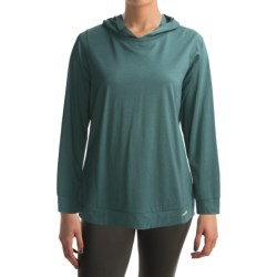 Calida Stretch & Relax Lounge Shirt - Hooded, Long Sleeve (For Women) in Verdant