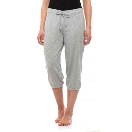 a75e33372 Calida Stretch Cotton Single Jersey Crop Lounge Pants (For Women) in Stone  Mele -