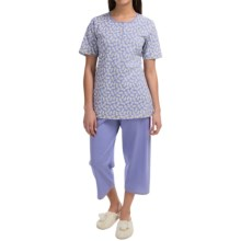 Calida Summerpunch Pajamas - Short Sleeve (For Women) in Blue Violet - Closeouts