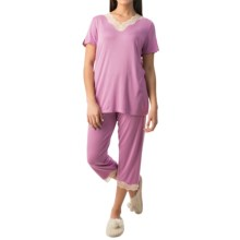 Calida Sunset Flavour Pajamas - Short Sleeve (For Women) in New Violet Purple - Closeouts