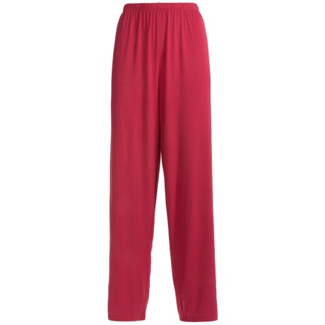 Calida Swetlana Lounge Pants - Stretch Micromodal® (For Women) in Hip Red